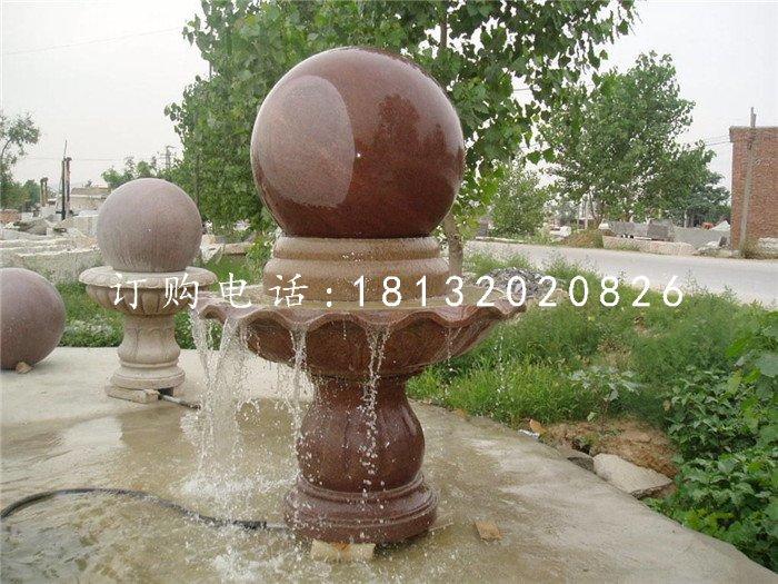 风水球喷泉雕塑广场风水球石雕