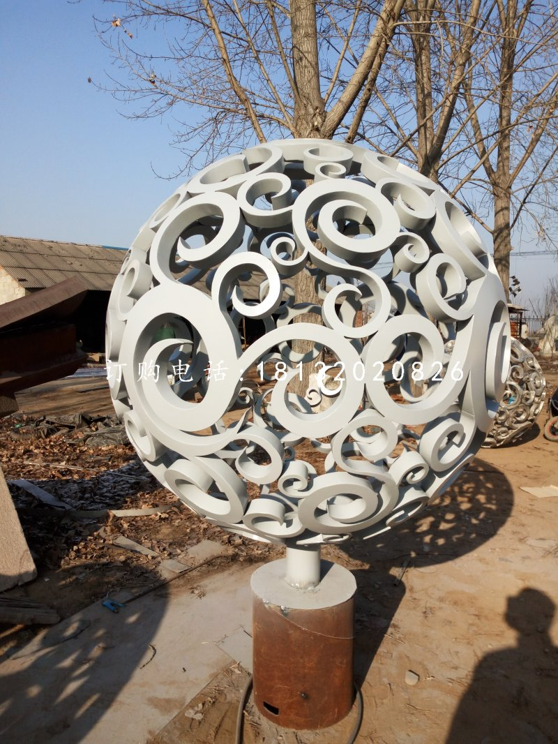 景观镂空球雕塑不锈钢广场雕塑