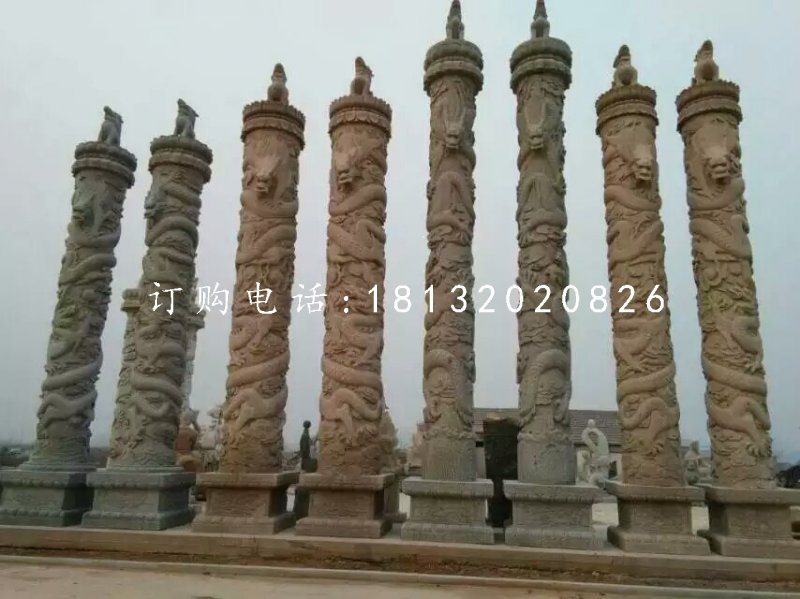 盘龙柱石雕广场石龙柱雕塑