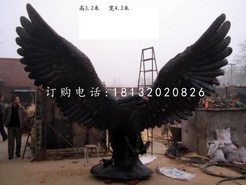 雄鹰展翅雕塑广场老鹰铜雕