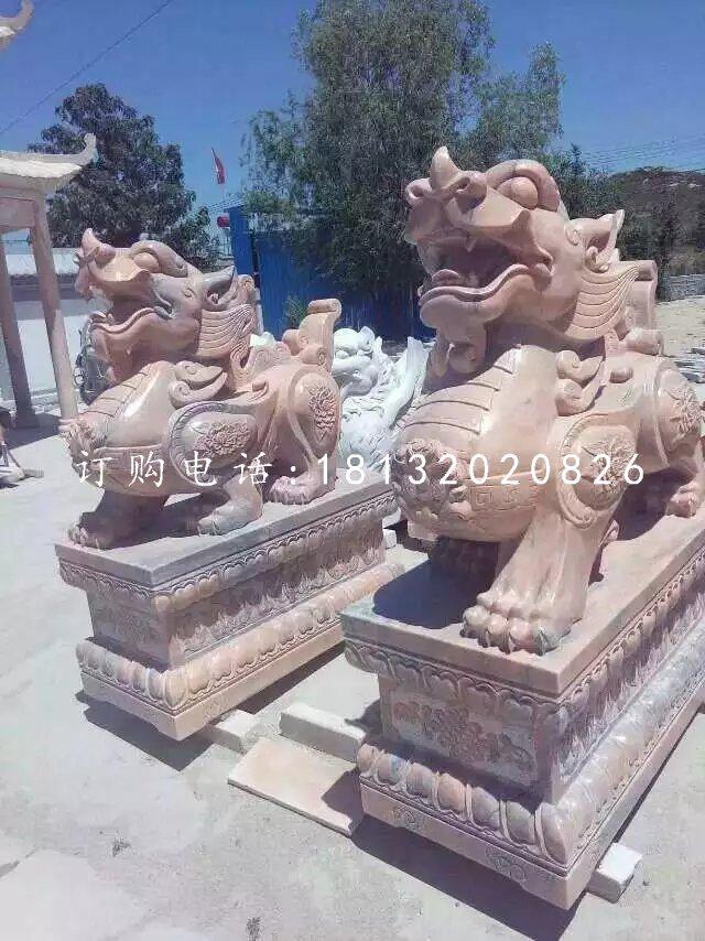 招财貔貅雕塑晚霞红神兽石雕