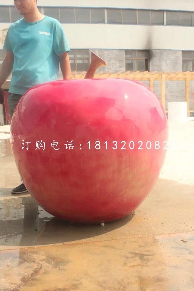 红苹果雕塑玻璃钢仿真水果雕塑
