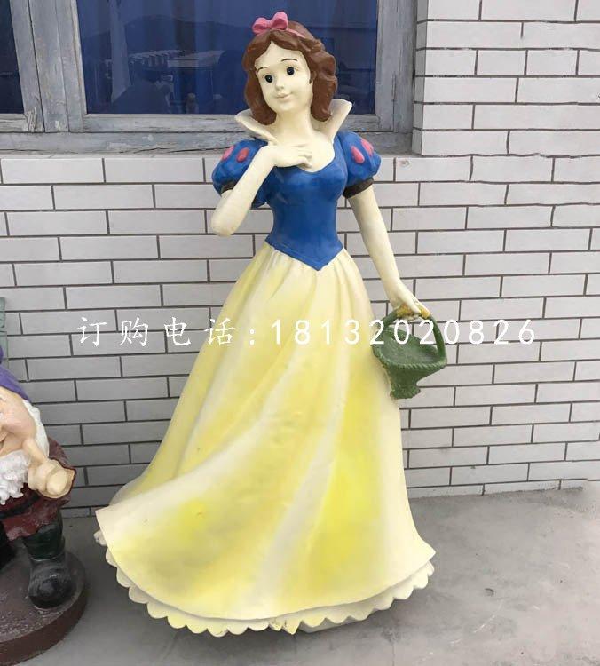 玻璃钢卡通人物,白雪公主雕塑