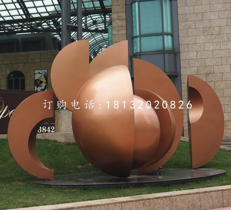 抽象景观雕塑,公园铜雕