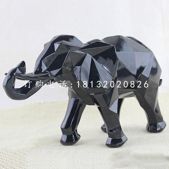抽象大象,玻璃钢动物摆件