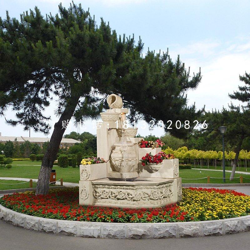 花盆花瓶雕塑公园景观石雕