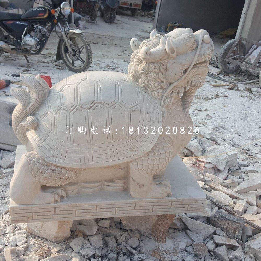 龙龟石雕,晚霞红龙龟