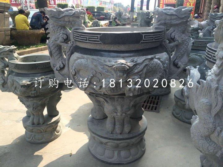青石香炉,寺庙三足香炉