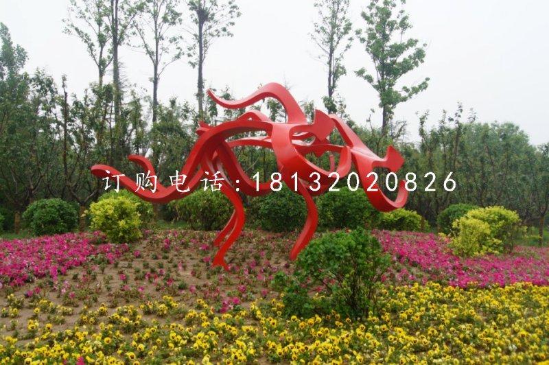 不锈钢赛跑雕塑公园抽象人物雕塑