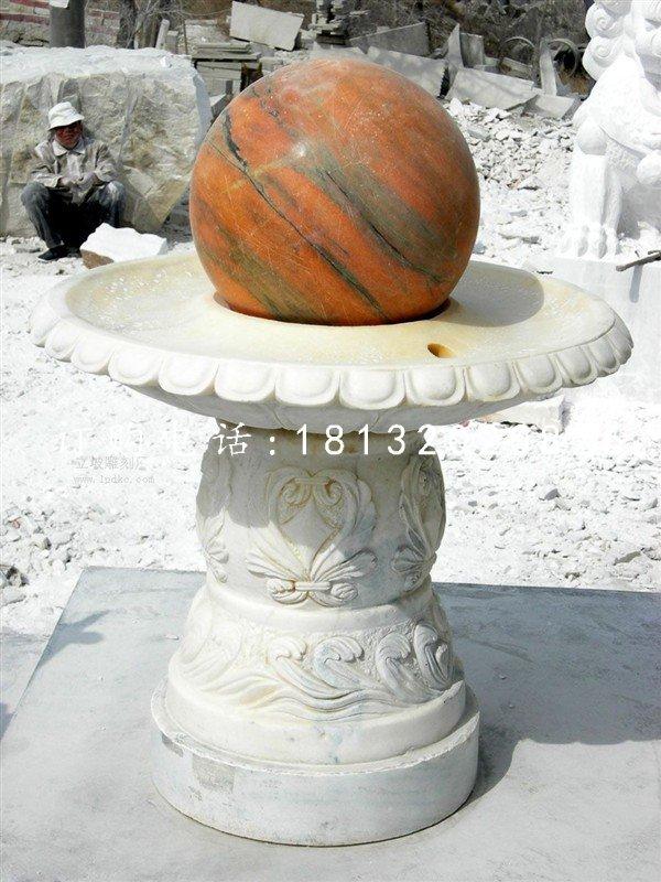 石雕风水球企业景观雕