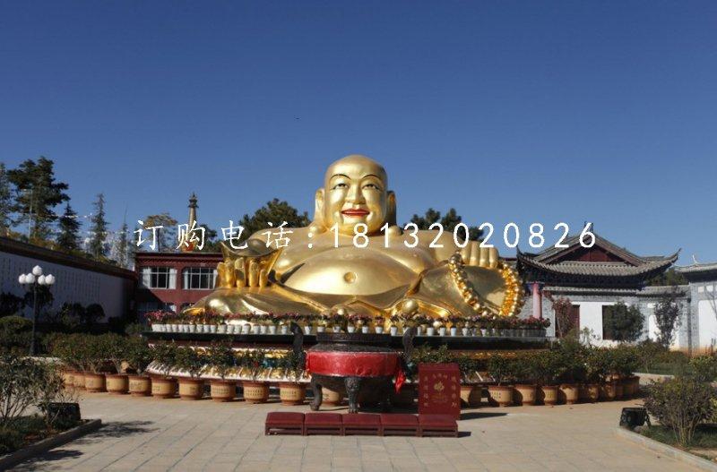 铸铜弥勒佛雕塑寺庙佛像铜雕