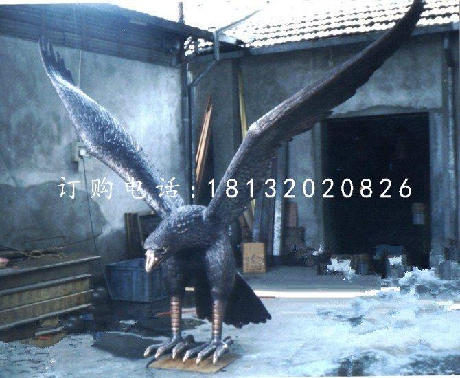 铸铜老鹰雕塑企业动物
