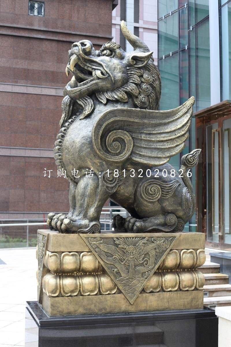 獨角獸銅雕,法院銅雕