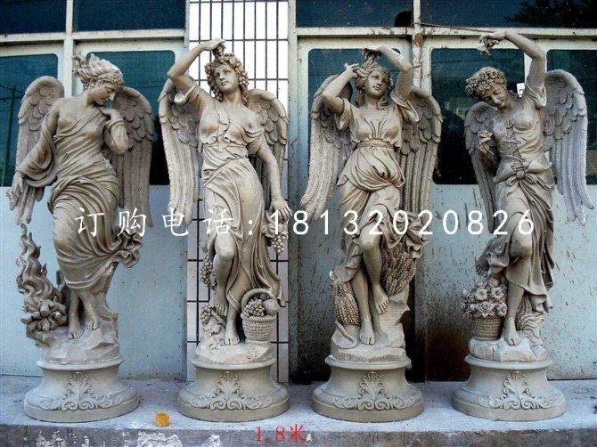 玻璃钢仿铜天使雕塑,西方人物雕塑