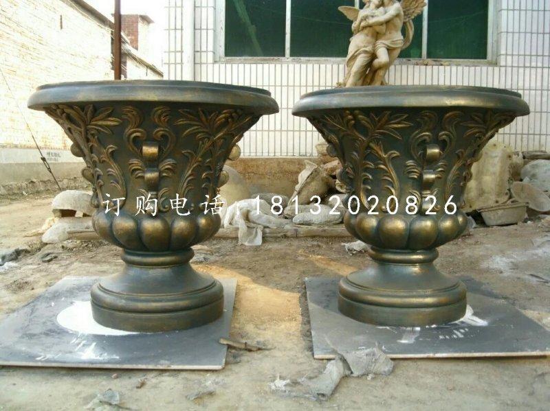 玻璃钢花盆,仿铜欧式花盆
