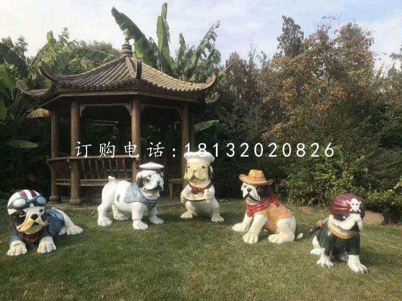 小狗雕塑,玻璃钢动物雕塑