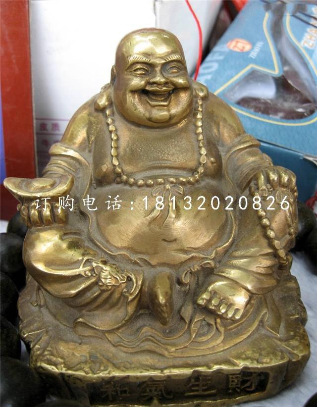 招财弥勒佛雕塑,铜雕佛像