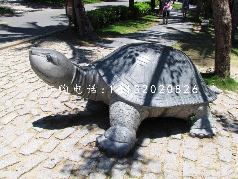 乌龟石雕,公园动物石雕