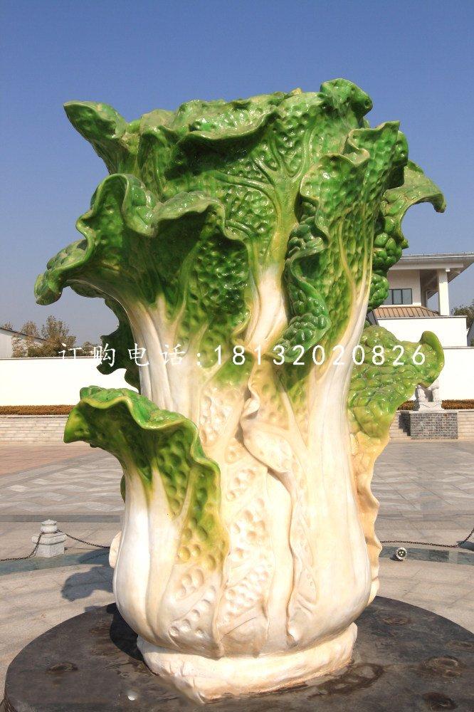 石头白菜雕塑,广场景观石雕