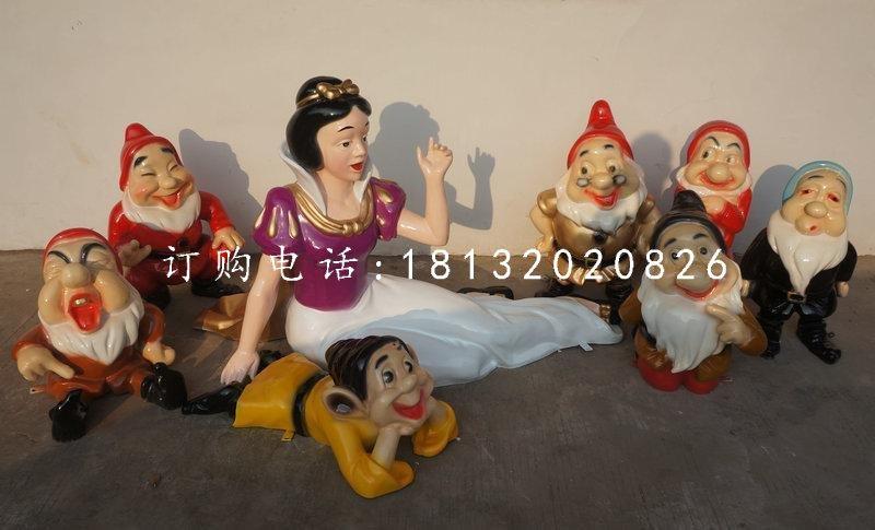 白雪公主雕塑,七个小矮人雕塑