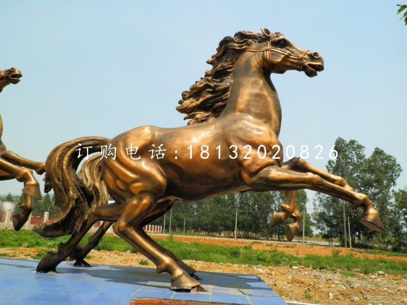 铜马雕塑,广场飞马铜雕