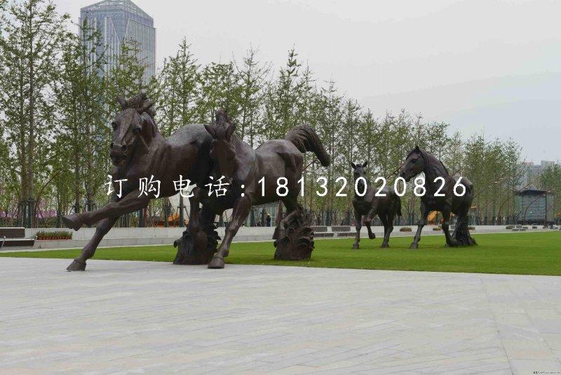 奔马铜雕,广场动物雕塑