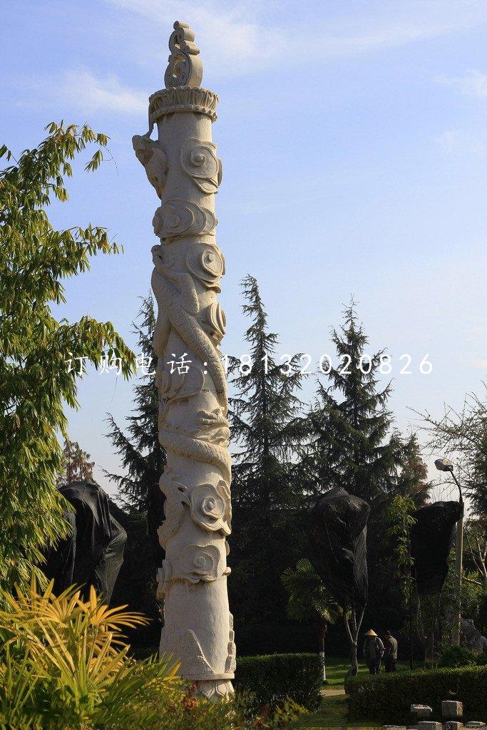 盘龙柱雕塑,石雕柱子