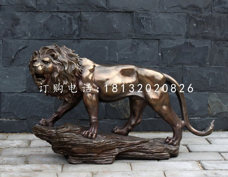 非洲狮铜雕,广场铜狮子