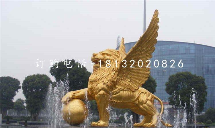 飞狮雕塑,广场铜狮子