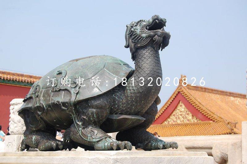 龙龟雕塑,青铜龙龟