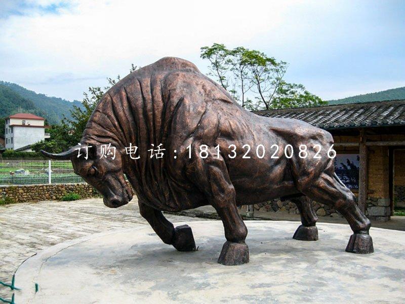 铜雕开荒牛,动物铜雕