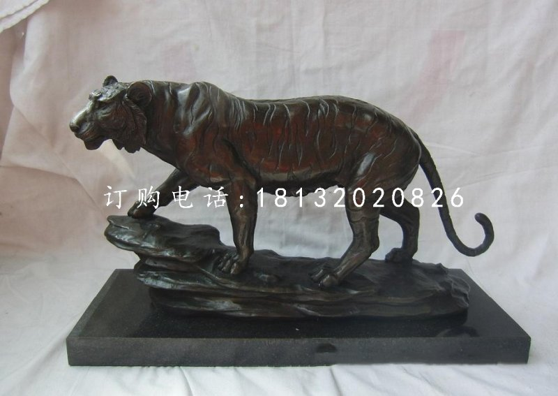 铜雕老虎,动物铜雕