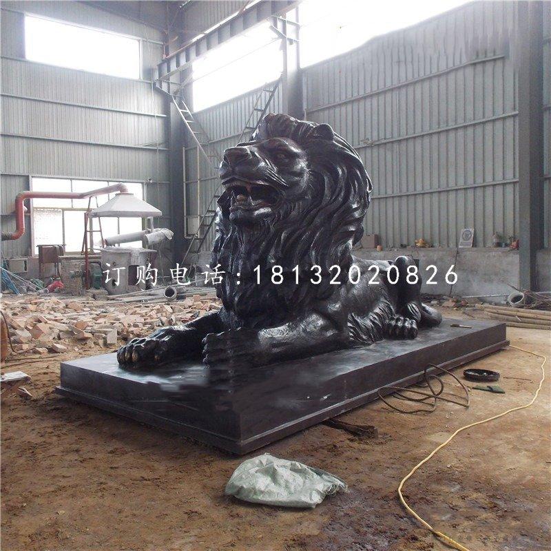 西洋狮铜雕,广场铜狮子
