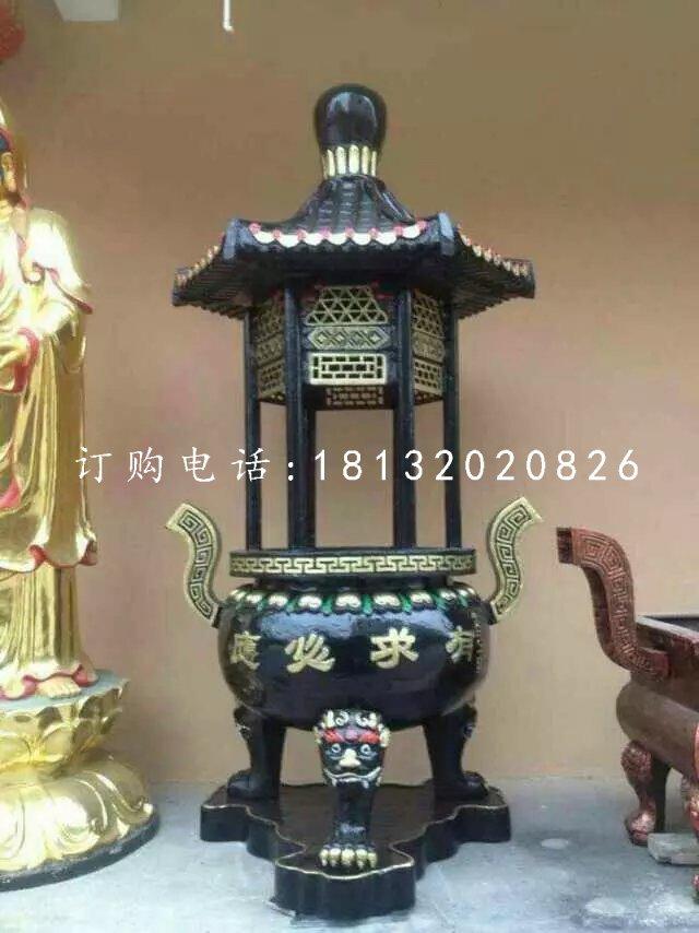 有求必应香炉雕塑,寺庙铜香炉