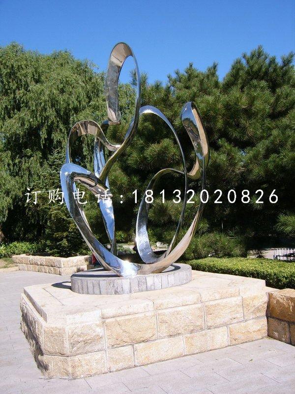 不锈钢抽象雕塑,公园景观雕塑