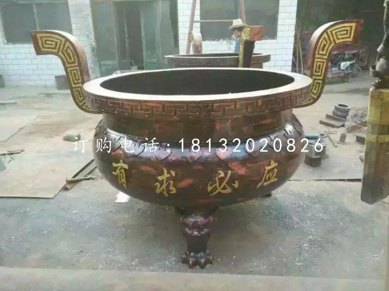 圆形香炉,寺庙三足铜香炉