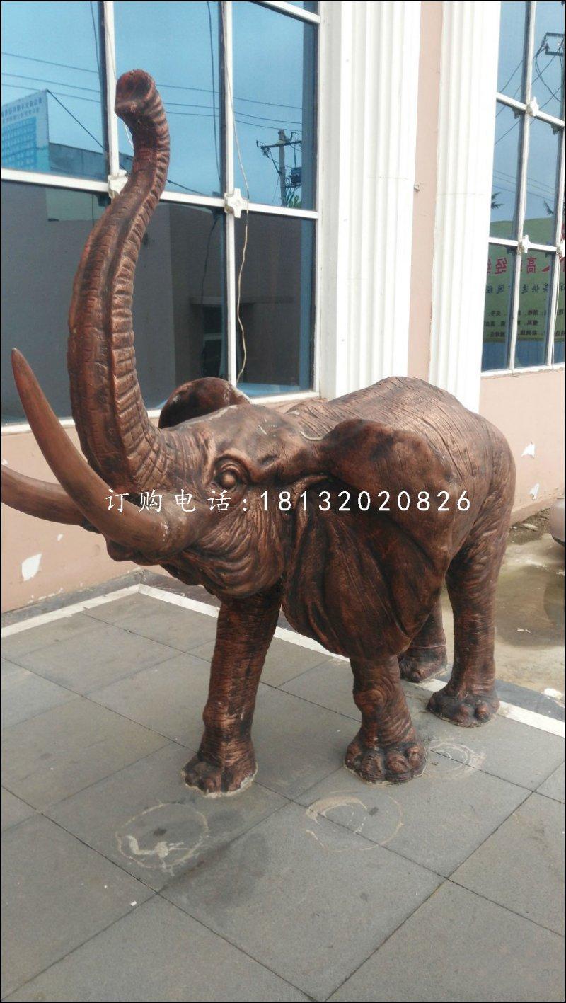 大象铜雕,公园动物铜雕