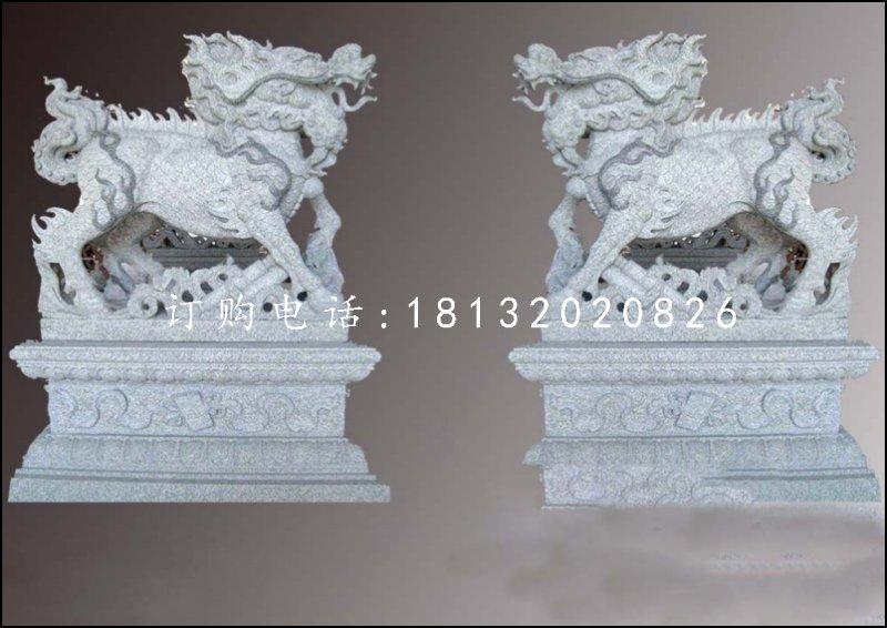 花岗岩麒麟雕塑,神兽石雕