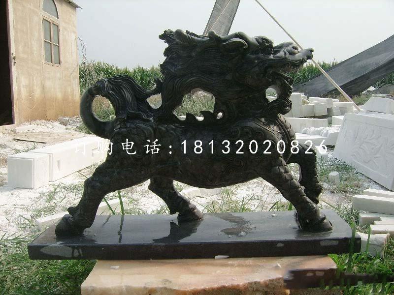 石雕麒麟,广场神兽石雕