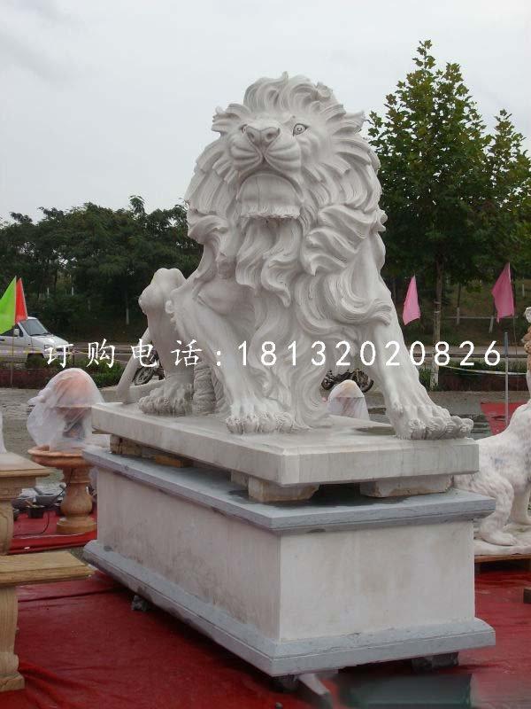 汉白玉狮子,欧式狮子石雕