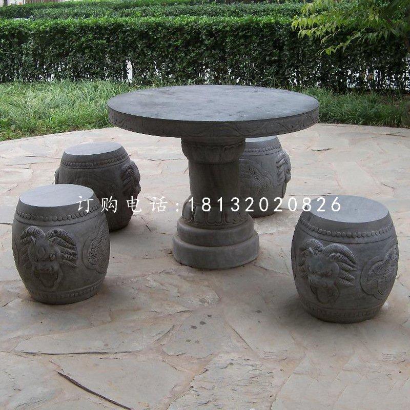 仿古圆桌圆凳,石桌椅
