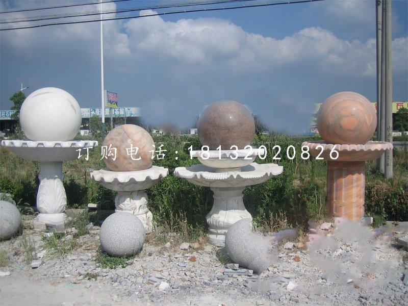 风水球喷泉,景观石雕