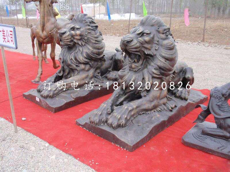 汇丰狮铜雕,铜雕西洋狮
