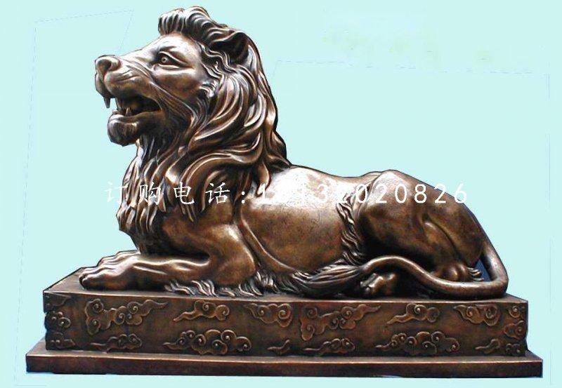 银行门口铜狮子,汇丰狮铜雕