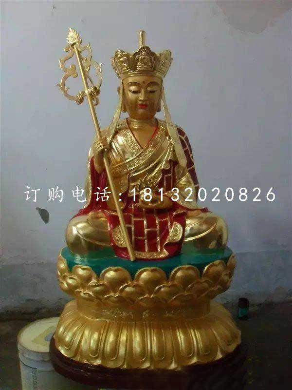 坐式地藏王,铜雕彩绘佛像