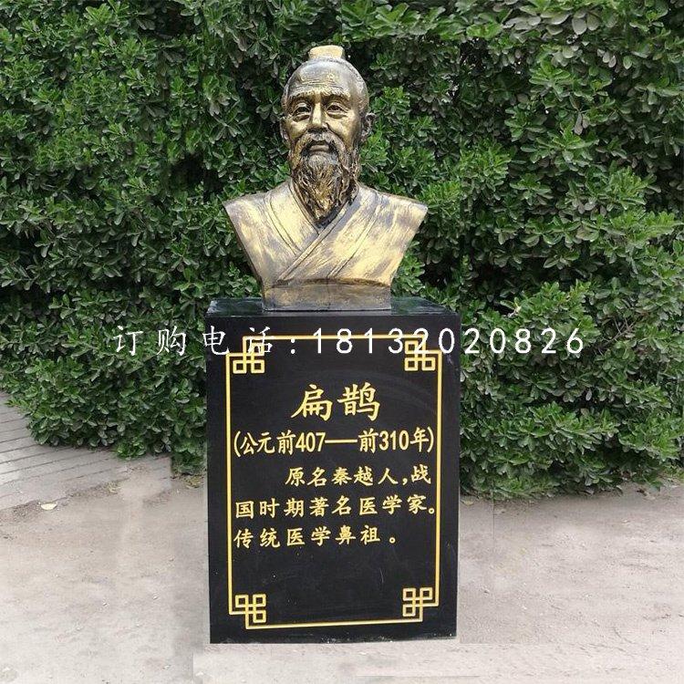 扁鹊头像铜雕古代名人铜