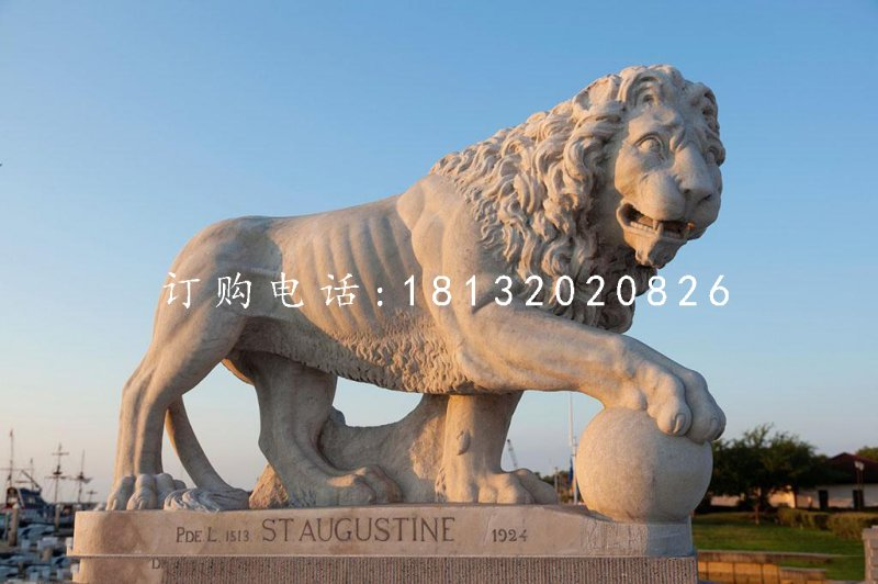 非洲狮石雕,广场石狮子