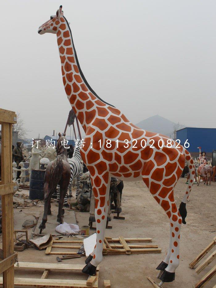 玻璃钢长颈鹿仿真动物雕