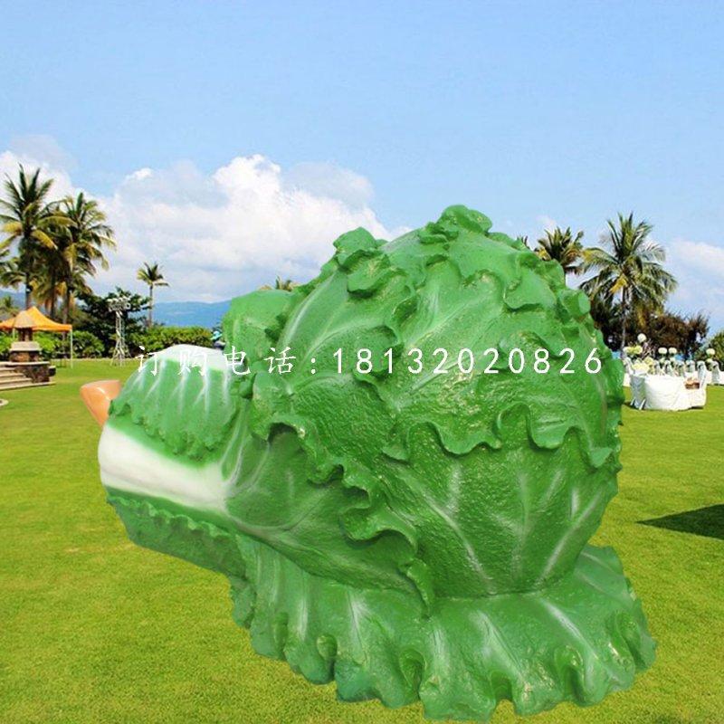 大白菜雕塑玻璃钢仿真蔬