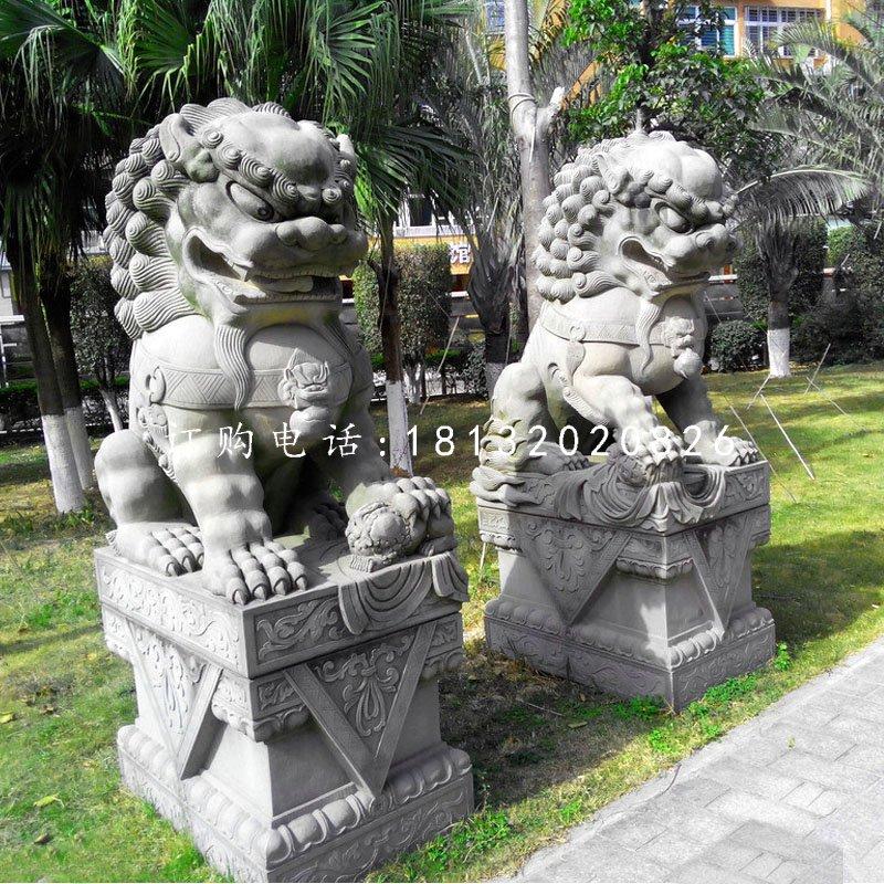 大理石狮子北京狮石雕